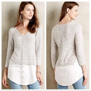 Anthropologie Layered Aselin Pullover